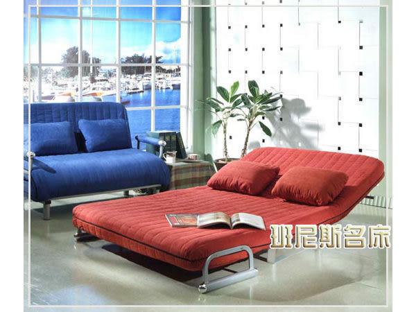 【班尼斯國際名床】~菲爾記憶矽膠舖棉日式沙發床~改版新款再出發