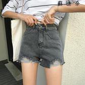 做舊破洞牛仔褲闊腿褲直筒褲單寧-蘇迪奈