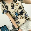 【QV0981】魔衣子-簡約圓領寬鬆短袖...