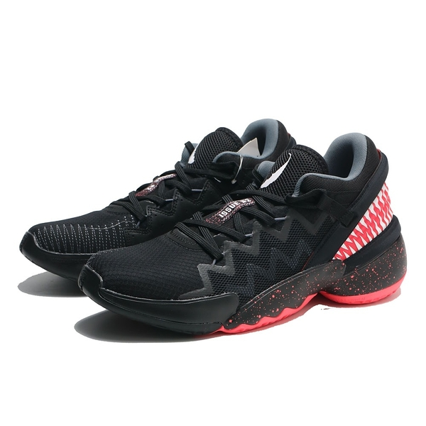 ADIDAS 籃球鞋 D.O.N. ISSUE 2 X VENOM GCA 黑紅 米契爾 猛毒聯名 男 (布魯克林) FW9038