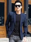 西裝外套 休閒西裝男薄款夏季商務防曬衣超薄半里上衣小西裝潮修身單件外套 『極致男人』