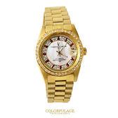 范倫鐵諾Valentino 背面鏤空自動上鍊機械手錶 金色滿天星珍珠貝面錶盤  柒彩年代 【NE1359】原廠