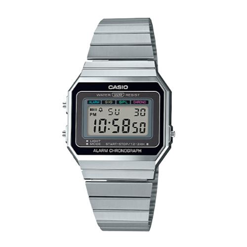 CASIO 卡西歐 手錶專賣店 A700W-1A 經典時尚復古電子錶 不鏽鋼錶帶 星空銀 生活防水 A700W