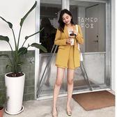 小西裝套裝女時髦2018春裝新款OL休閒時尚洋氣西服高腰短褲兩件套  巴黎街頭