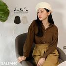 LULUS特價【01190983】M直紋寬鬆襯衫-2色