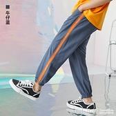 多多家兒童長褲男2021夏季新款中大童輕薄休閒運動褲裝速干防蚊褲
