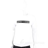 Emporio Armani 皮革感雕刻字母白色棉質T恤(男款) 1920700-20