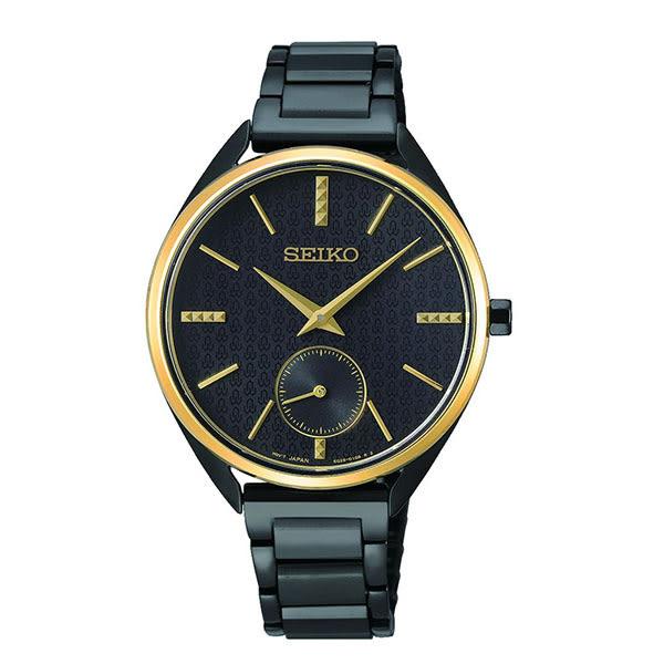 日本 SEIKO 精工 50周年限定 簡約三針大方女錶  6G28-00Z0K(SRKZ49P1)金x黑