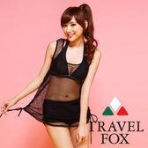 【TRAVEL FOX夏之戀】運動風大女外搭罩衫-C14703黑