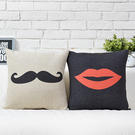 可愛時尚結婚禮物 創意家居裝飾抱枕2 (一對含枕心)