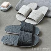 情侶拖鞋夏室內情侶潮一男一女夏外穿個性韓版家居家用涼拖鞋防滑 深藏blue