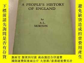 二手書博民逛書店A罕見PEOPLE'S HISTORY OF ENGLAND人民