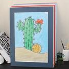 10個 4開簡易卡紙畫框裱兒童畫卡紙相框...