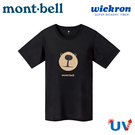 【Mont-Bell 日本 女 Wickron Bear熊臉 短袖排T《黑》】1114483/吸濕排汗/抗UV/休閒衫/戶外