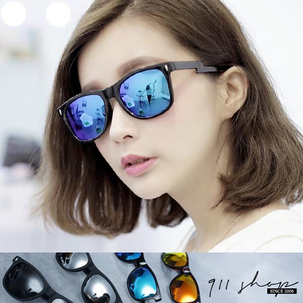 Crystal.TR90塑膠鈦閃電腳架方框水銀偏光太陽眼鏡【f5011】*911 SHOP*