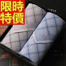 手帕 禮盒流行-紳士風新款有型純棉質男士配件3款57r14【時尚巴黎】