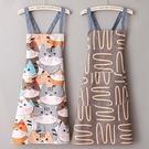 純棉帆布透氣薄款圍裙女廚房家用做飯男加肥圍腰上班耐磨工作定制 露露日記