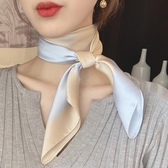 小方巾女韓國時尚百搭薄款職業空姐領巾絲巾頭巾【倪醬小舖】