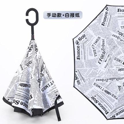 折疊雨傘  持式長柄男女晴雨兩用車載折疊雨傘定制印廣告傘   10色T