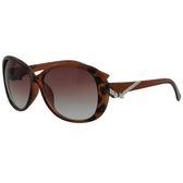 【福利品】東大門流行蝴蝶結棕色太陽眼鏡#琥珀框-(8803-2)