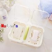 伊人 肥皂盒 防水 帶蓋 瀝水 香皂盒