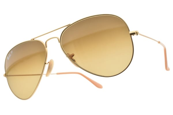 RayBan 偏光太陽眼鏡 RB3025 112M2 (霧金-漸層棕鏡片) 熱門時尚款 偏光墨鏡 # 金橘眼鏡