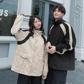 工裝外套 情侶裝新款秋裝新款流行薄款外套工裝男韓版寬鬆風衣潮 - 歐美韓熱銷