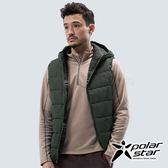 PolarStar 中性 鋪棉雙面保暖背心『深墨綠』P18213 戶外 休閒 登山 露營 保暖 禦寒 防風 連帽