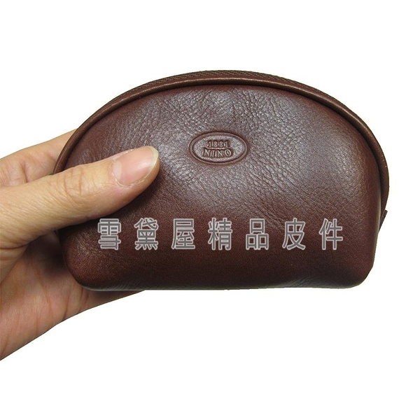 ~雪黛屋~18NINO81 零錢包中容量內暗袋可信用卡100%進口牛皮革證件包男女適用BNI101080440