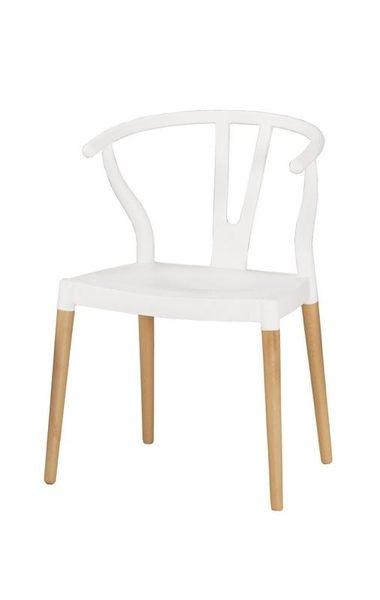 8號店鋪 森寶藝品傢俱 a-01 品味生活 餐椅系列  1028-2 傑倫造型椅(白)