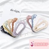 5雙 蕾絲硅膠防滑隱形船襪女淺口純棉日系可愛薄款襪子【櫻桃菜菜子】