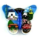 【收藏天地】台灣紀念品專賣*寶島舞蝶冰箱貼-我愛台灣  磁鐵 送禮 文創