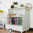 書櫃 書架 收納 客廳邊櫃儲物收納落地置物櫃現代簡約沙發邊茶水杯玄關環保落地櫃 DF