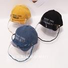 兒童防疫帽子嬰兒帽男童防護帽女童春夏防塵防飛沫鴨舌帽 百分百