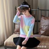 女童毛衣針織長袖加絨加厚毛線衣大尺碼中大童6 7 8 9 10歲洋氣粉色 qf32211【夢幻家居】