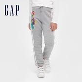 Gap女童 Gap x Disney 迪士尼公主系列鬆緊休閒褲 614247-淺灰色