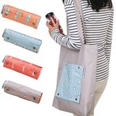 可折疊單肩購物袋/春捲包(1入) 4款可選【小三美日】