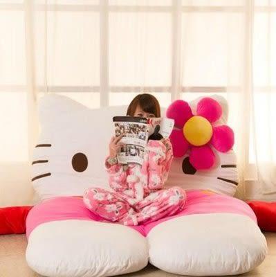 hello kitty 懶人沙發床超大床墊【藍星居家】
