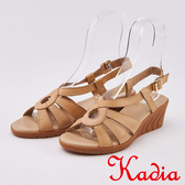 kadia.舒適牛皮涼鞋(0108-00杏色)