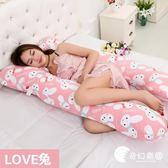 孕婦枕-孕婦枕頭護腰側睡枕孕婦U型枕 可拆洗多功能抱枕側臥枕頭-奇幻樂園