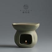 創意手工粗陶陶瓷精油燈香薰燈蠟燭加熱熏香爐  精油香薰燈
