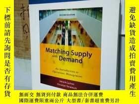 二手書博民逛書店罕見實拍;Matching Supply with Demand