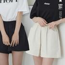 純色斜紋布鬆緊短褲-BAi白媽媽【310339】