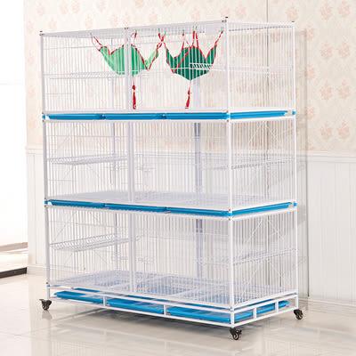 狗狗圍欄 獒運160三層托盤貓籠 太空貓籠 狗籠 貓別墅 繁殖籠籠