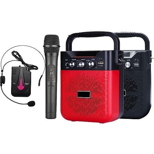 大聲公巧雅型無線式多功能手提行動音箱/喇叭 (手持+耳麥組)