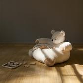 鹿早兒童毛絨動物懶人沙發 寶寶可愛動物玩偶造型臥室網紅款禮物