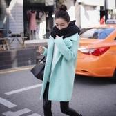 毛呢大衣 中長款-時尚保暖加厚百搭女風衣外套2色73ki79【巴黎精品】