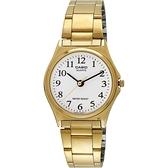 CASIO 卡西歐 小錶徑指針手錶-白x金/25mm LTP-1130N-7BRDF