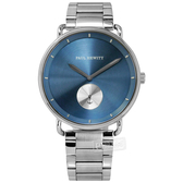 PH PAUL HEWITT / PH-BW-S-NS-61M / 簡約風格 獨立秒針 藍寶石水晶玻璃 不鏽鋼手錶 藍色 42mm