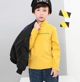 多多家男童秋冬裝長袖T恤新款中大兒童保暖上衣寶寶高領打底衫潮YJ1855【雅居屋】